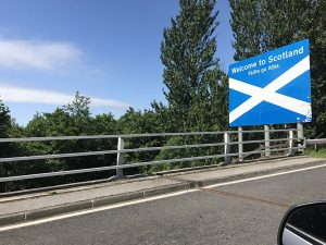 Welcome to Scotland sign.